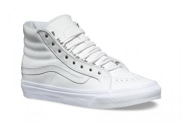 Chaussures vans rivets sk8 hi slim blanc 43