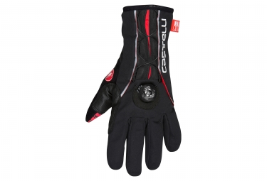 gants hiver castelli boa noir rouge l