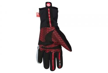 gants hiver castelli boa noir rouge xxl