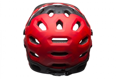 casque integral bell super 3r rouge noir mat m 55 59 cm