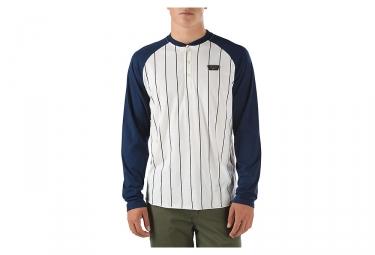 T-Shirt Manches Longues VANS LOUISVILLE Blanc Bleu