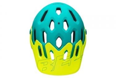 casque integral bell super 3r bleu vert s 52 56 cm