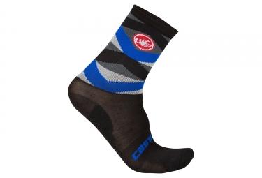 paire de chaussettes castelli fatto 12 noir bleu 36 39