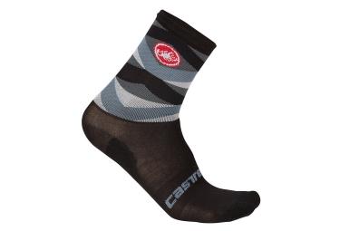 paire de chaussettes castelli fatto 12 noir gris 36 39