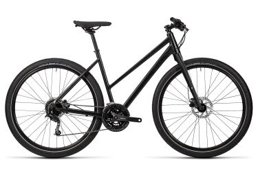 Vélo Urbain Femme CUBE Hyde Shimano Acera 9v Noir