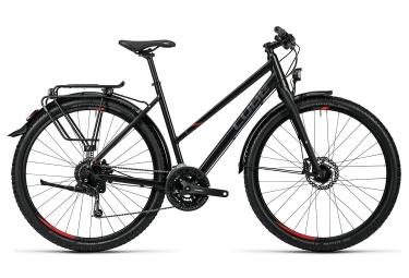 Vélo de Voyage Femme CUBE Travel Shimano Acera 9v Noir