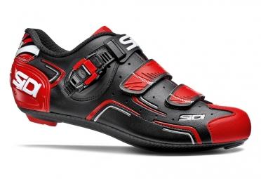 chaussures route sidi level noir rouge blanc 39