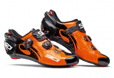 chaussures route sidi wire 2017 orange noir 43