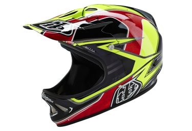 casque integral troy lee designs d2 sonar 2016 jaune noir rouge xs s 53 55 cm
