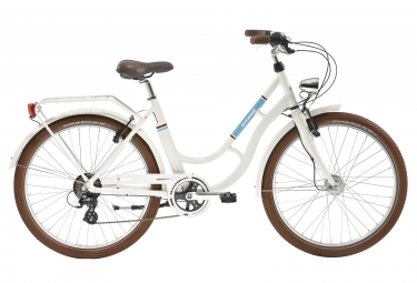 Vélo de Ville Gitane  Zumba Shimano Altus 7V Blanc / Bleu 2017