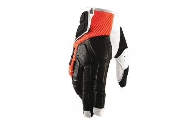 Gants Longs 100% Simi Noir Orange
