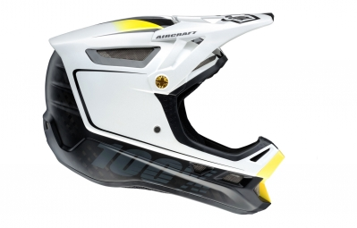 casque integral 100 aircraft bi turbo mips blanc noir m 57 58 cm
