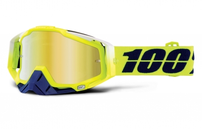 100 masque racecraft tanaka jaune ecran mirror jaune