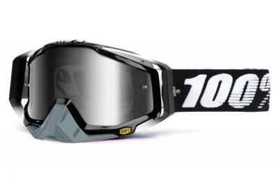 100% Masque Racecraft Abyss Noir Ecran Mirror Argent