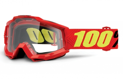 100% Accuri Saarinen Youth Goggle Red Frame Clear Lens