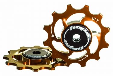 paire de galets hope 12 dents sram 11 vitesses orange