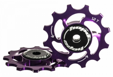 Paire de galets hope 12 dents sram 11 vitesses violet