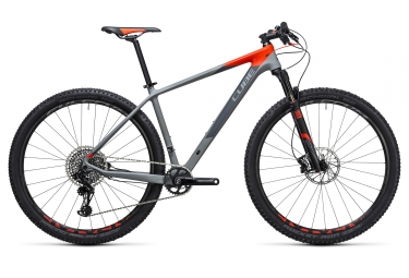 velo complet 2017 cube reaction gtc carbone 29 sram eagle x01 12v gris orange 19 pouces 180 190 cm