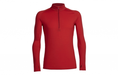 maillot manche longues icebreaker zone rouge xl