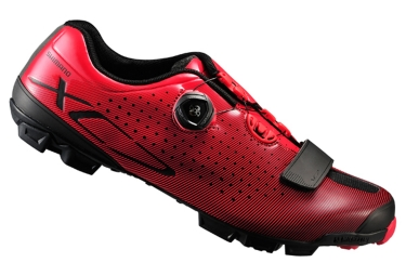 chaussures vtt shimano xc 700 rouge 42 1 2