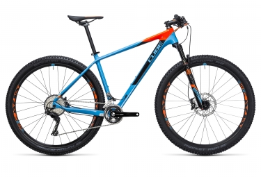 velo complet 2017 cube reaction gtc race 29 shimano xt m8000 11v bleu orange 19 pouc
