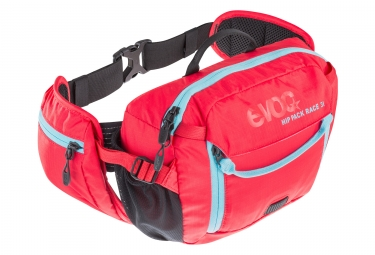 EVOC HIP PACK RACE 3L Bagpack + Poche 1.5L Red Blue