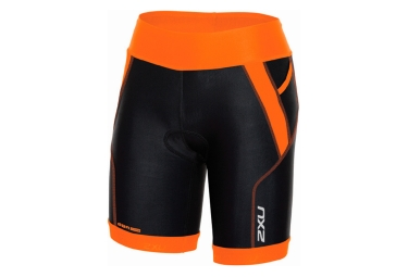 Short de triathlon femme 2xu 7 perform tri noir orange xs