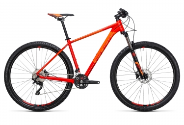 velo complet 2017 cube attention 29 shimano xt 10v rouge orange 21 pouces 185 195 cm