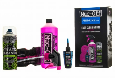 Kit d entretien muc off pack special alltricks fast clean lube