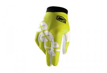 100 paire de gants itrack jaune fluo xl