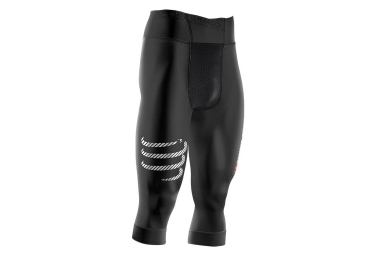 Collant 3/4 COMPRESSPORT PIRATE Noir