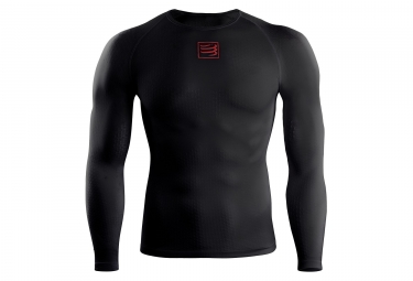 maillot manches longues compressport thermo 3d ultralight noir s m