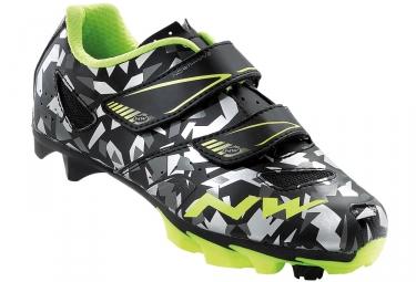 chaussures vtt enfant northwave hammer junior camo jaune 34