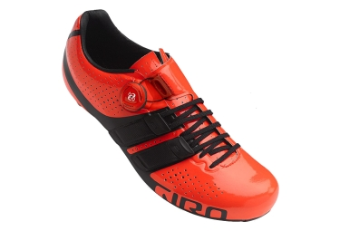 Paire de Chaussures Route GIRO FACTOR TECHLACE Orange Noir