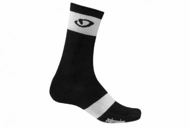 paire de chaussettes giro comp racer high rise noir blanc 40 42