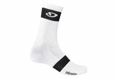 Paire de chaussettes giro comp racer high rise blanc noir 40 42