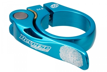Reverse collier de selle long life diametre 34 9 mm turquoise