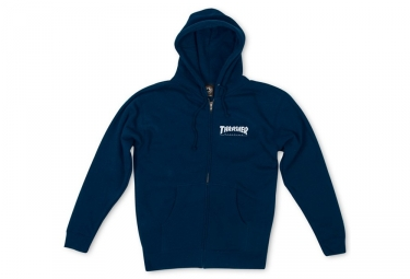 Thrasher Logo Zip Hood Sudadera Azul