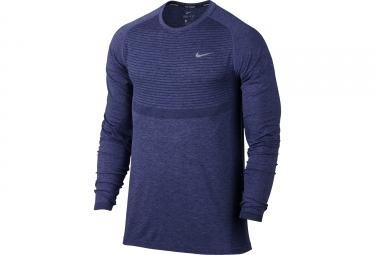 maillot homme nike dri fit knit bleu xl