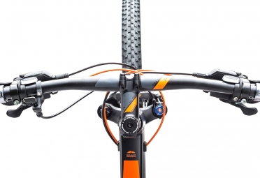 velo complet 2017 cube stereo 120 hpa pro 29 shimano deore 10v noir orange 17 pouces