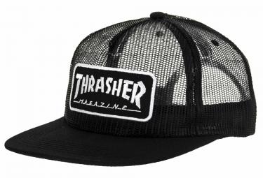 Casquette Thrasher Mag Logo Mesh Noir Blanc