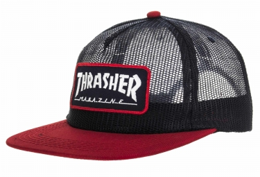 Casquette Thrasher Mag Logo Mesh Bleu Rouge