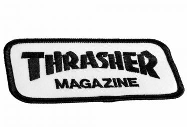 Patch Thrasher Logo Blanc Noir