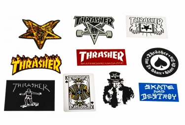 x10 Stickers Thrasher Assorted