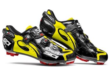 chaussures vtt sidi drako carbon srs noir jaune 43