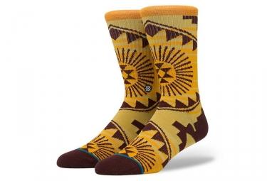 Paire de chaussettes stance sundrop 2 orange marron 43 46