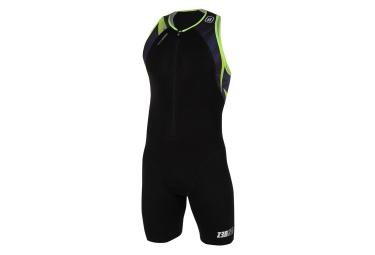 combinaison triathlon z3r0d neon usuit noir jaune fluo xl
