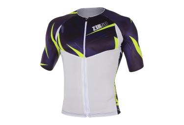 Maillot de Triathlon Z3ROD TT SINGLET NEON Blanc Bleu