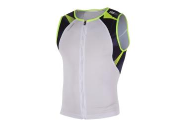 maillot de triathlon z3r0d usinglet neon blanc noir jaune fluo m