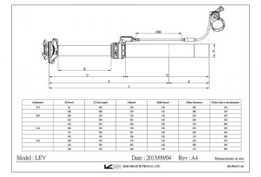 Tige de Selle Télescopique KIND SHOCK LEV Remote Débattement 150mm